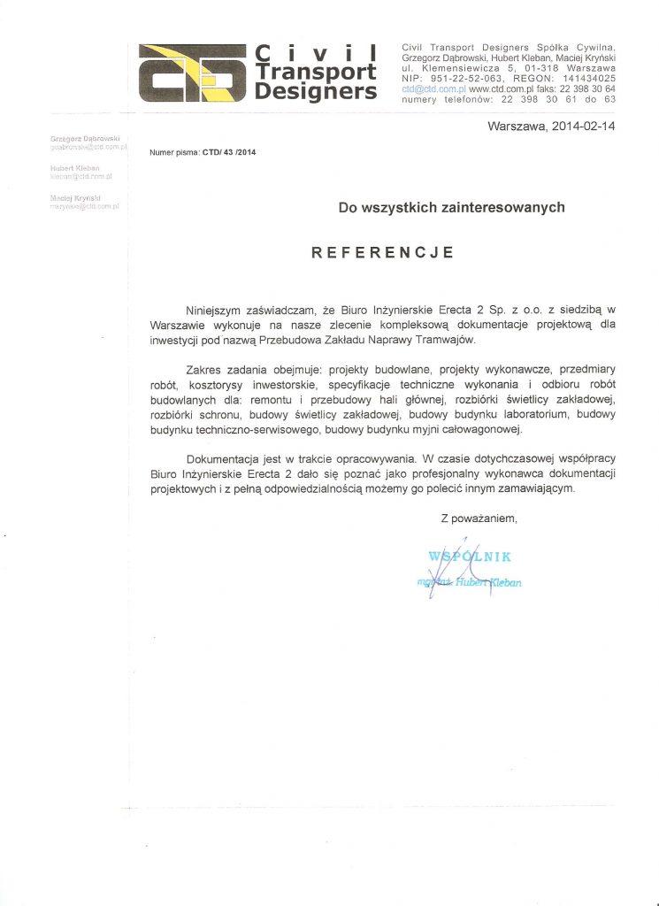dokumentacja projektowa referencja
